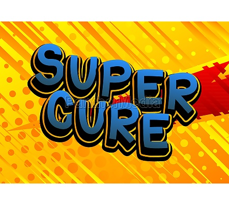 super cure comic book style