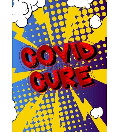 covid cure comic book style
