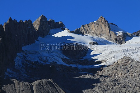 rugged mountains and driest glacier