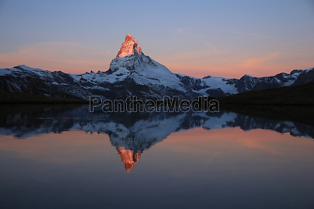beautiful morning scene in zermatt switzerland