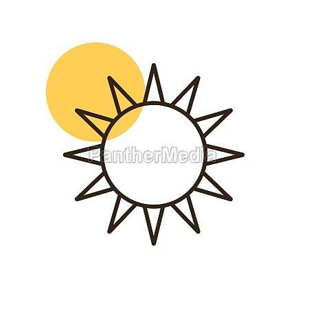 sun vector isolated flat icon weather