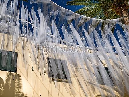 street art made of delicate fabrics