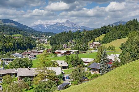 village of fieberbrunn tirol austria