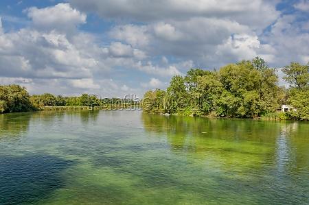 alz river seebruck chiemsee bavaria germany