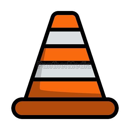 icon of traffic cone