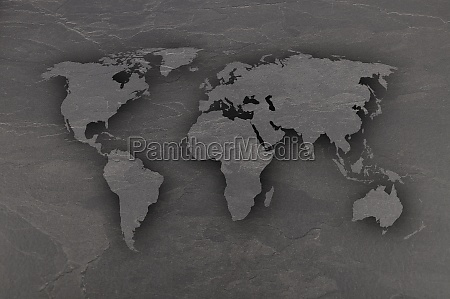 map of world map on dark