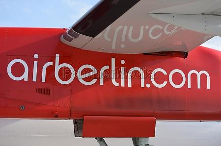 flugzeug der ehemaligen airberlin deutschland europa