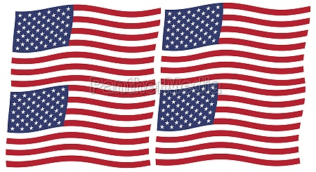 american flag of united states of