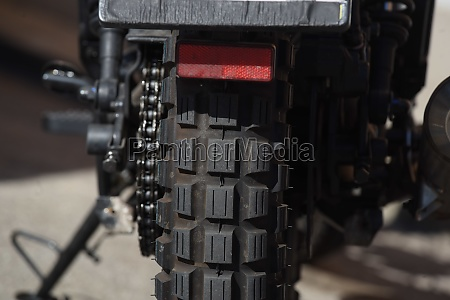 motorcycle tire as part of a