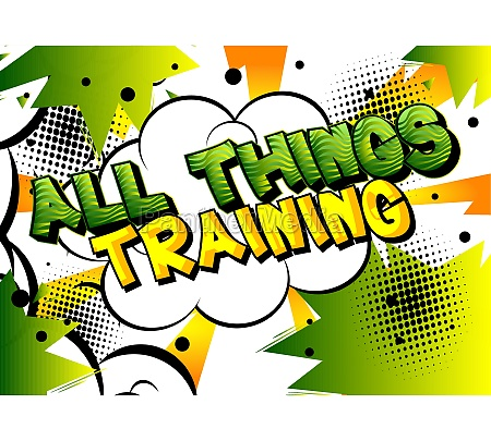 all things training comic book