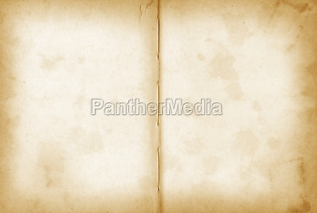 old grunge open notebook background texture