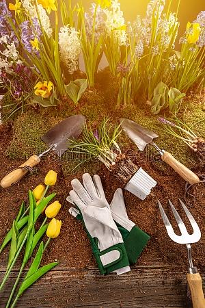 floral gardening background