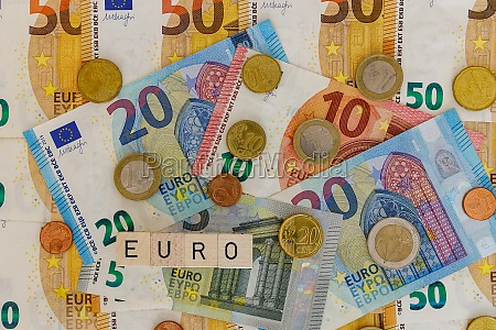 the euro currency as background