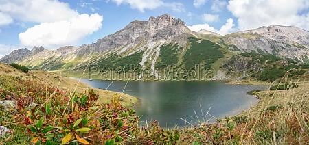 beautiful and idyllic mountain landscape scenery