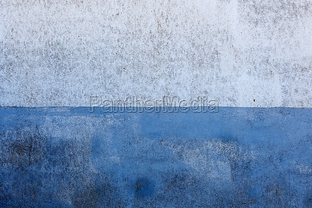 painted wall in white and blue