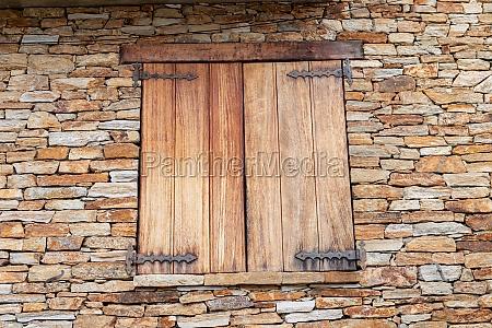 closed wooden window
