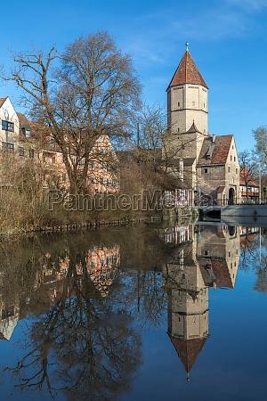 jakobertor medieval city gate in augsburg