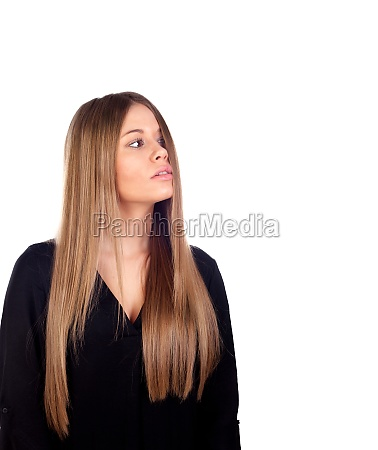 woman with beauty long blonde hair