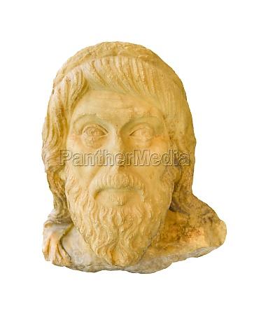 ancient greek head sculpture