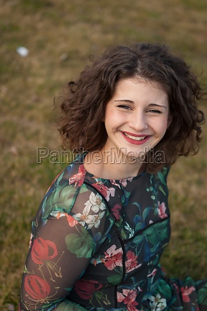 portrait of a beautiful girl with