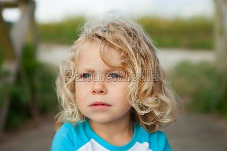 small child enjoying of a sunny