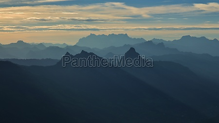 mythen and other mountains at sunrise