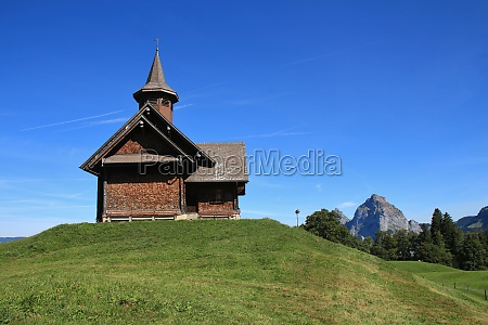 old timber chapel in stoos
