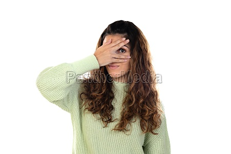 beautiful woman with wavy hair