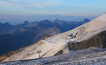 glacier with crevasses on the titlis