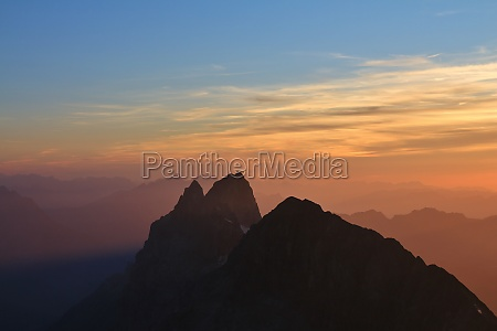 high mountains in central switzerland at