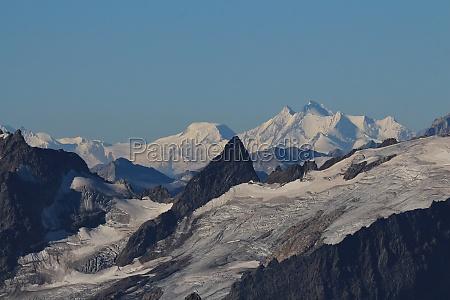 distant view of the mischabel range
