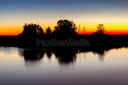 beautiful landscape during the sunset with