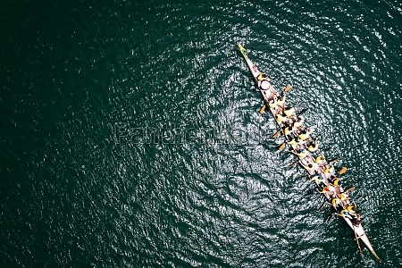 dragon boat from above