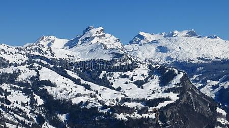 winter landscape in central switzerland view