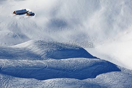 winter sport paradise scene in the