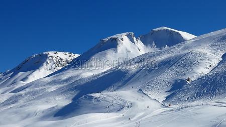 ski slope and mountain ski area