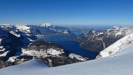lake vierwaldstattersee view from fronalpstock
