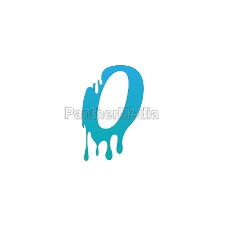 melting letter o icon logo design