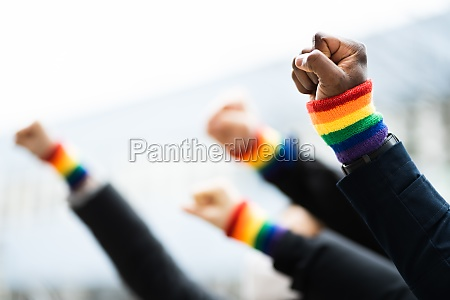 gay power and pride wristband