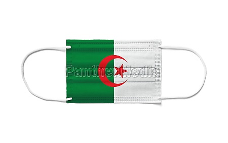 flag of algeria on a disposable