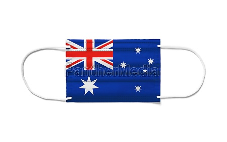 flag of australia on a disposable