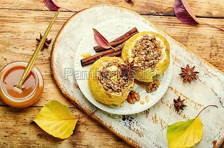 fruit dessert baked apples