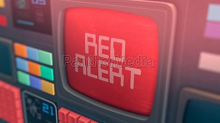 red alert message