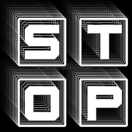 stop white lettering in frame