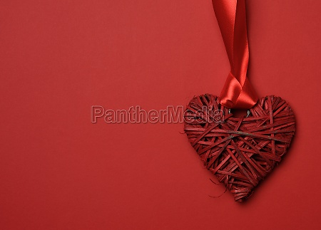 red braided heart and twisted silk