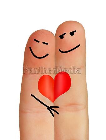 love between fingers
