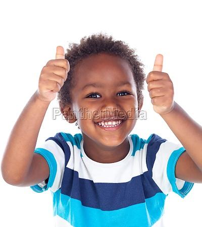 african child saying ok