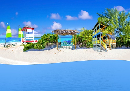 collage about half moon cay island