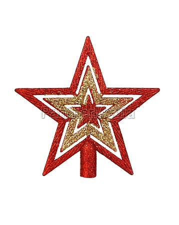 bright red and golden star for