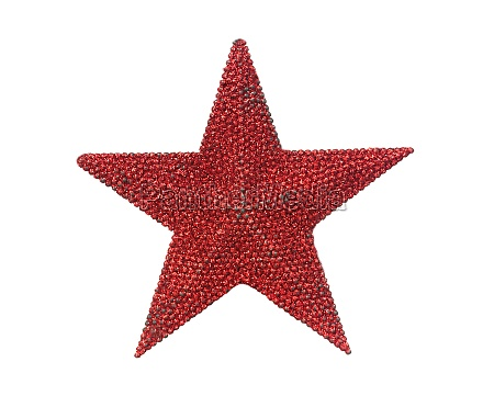 bright red christmas star